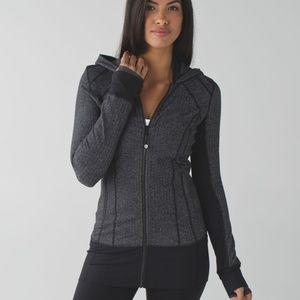 Lululemon Daily Practice Jacket Heathered Black 12